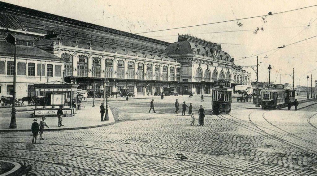 gare des Brotteaux carte postale
