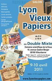 Affiche Lyon Vieux Papiers