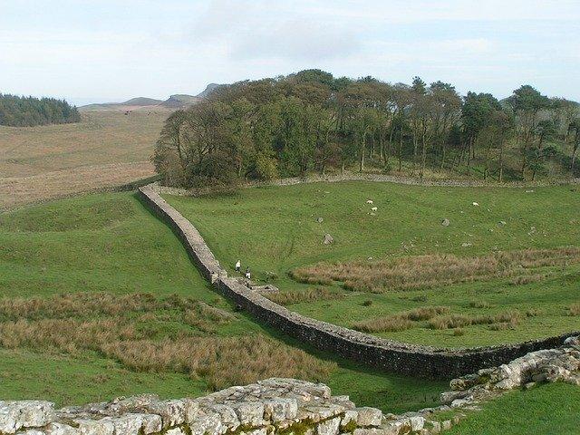 Mur d'Hadrien en Angleterre