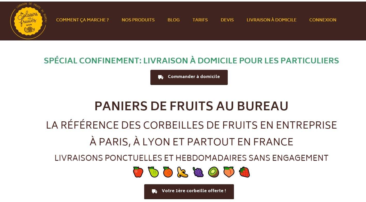 Lyon : La société Les Plaisirs Fruités pour la livraison à domicile