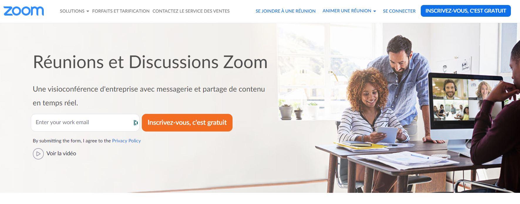 zoom application télétravail