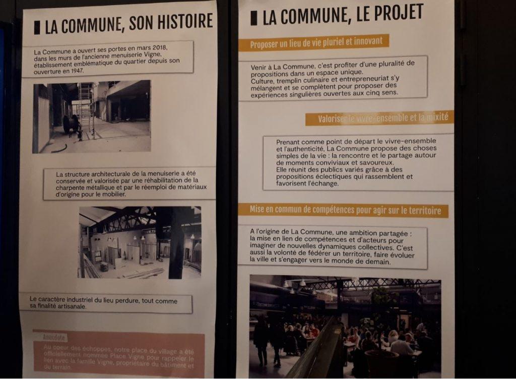 L'histoire du projet de la commune lieu de restauration à lyon